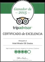 Hotel Mirador de Gredos **** - Certificado de excelencia