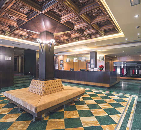 Hall y entrada del Hotel Mirador de Gredos