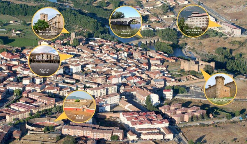 Hotel Mirador de Gredos - Vista aérea de Barco de Ávila